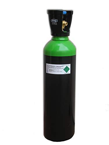 Botella B-11 (11 Litros) cargada con Gas Nitrógeno seco (N2) comprimido con tulipa
