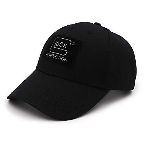 QOHNK タクティカルスタイル シューティング スポーツ 野球帽 釣りキャップ メンズ アウトドア ハンティング ジャングルハット エアソフト ハイキング カスケットハット ブラック
