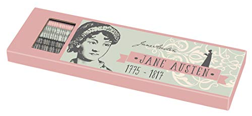 Libri_x Jane Austen - Juego de 6 lápices con borrador, dureza HB y 2B