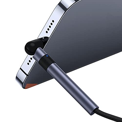 Soporte giratorio para teléfono con carga, cable USB de súper carga para Huawei para iPhone 12 11 Pro Max, cable micro USB rápido tipo C para Samsung (Android, 2M)