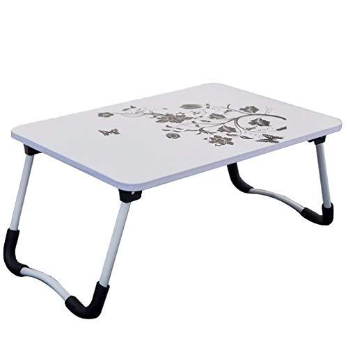 DQMSB Table Pliante Portable Petit-déjeuner Table de lit (Couleur : Blanc)