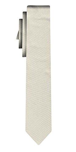 Cravate unie étroite solid light silver VII /6cm