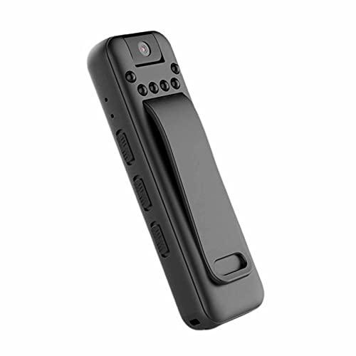 SXTYRL Telecamera Spia, Infrarossi, Micro Telecamera, Visualizzazione Grandangolare, Spy Fotocamera, per Interno Ufficio, Batteria (Color : Black, Size : 128G)