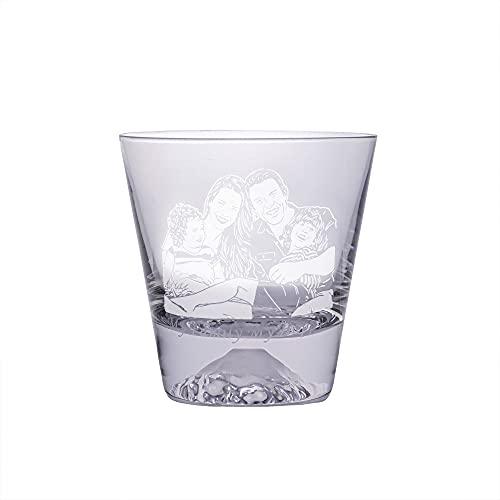 Vaso de agua personalizado foto vaso de agua texto vaso de agua vaso de agua de moda para mamá y papá de acción de gracias(1 taza 9×9 Cm)
