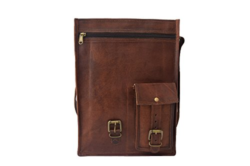 Umhängetasche aus echtem Leder, 33 cm (13 Zoll) MacBook, Schultasche, College, Umhängetasche