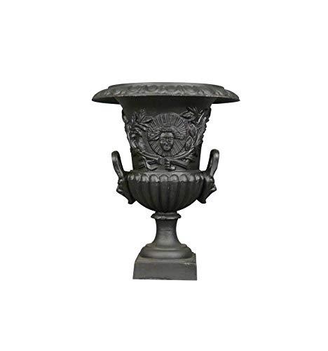 HTdeco - Jardin - Vasques et vases - Vase Médicis en Fonte de Fer - H: 60 cm