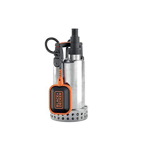 Black+Decker BXUP750XCE Pompa Immersione per Acque Chiare, Portata max. 11.000 l/h, Prevalenza max. 8.5 m, 750 W