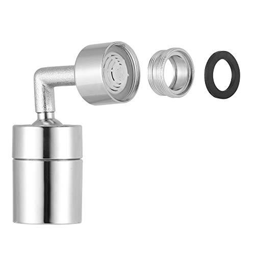Cdrox A Prueba de Salpicaduras de Metal Grifo de la válvula del Anillo o 720 Grados de rotación Ajustable El Agua del Grifo Grifo Universal con Adaptador