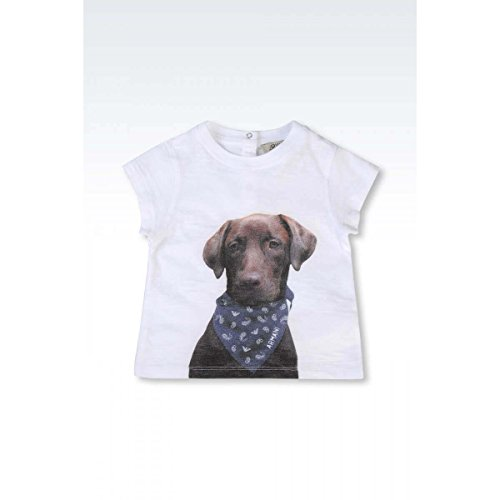 ARMANI JUNIOR - T-Shirt Chien Blanc - 12 Mois, Blanc