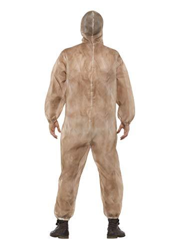 Smiffys Costume zombie con rischio biologico, Marrone, con tuta e maschera