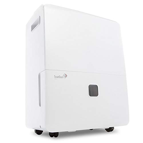 Ivation 95 Pint Energy Star Dehumidifier W/ PUMP - Large-Capacity Compressor For Spaces Up To 6,000 SqFt - Programmable Humidistat, Hose Connector, Auto off/start, Washable Filter (Renewed)