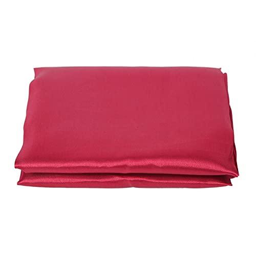 Cubierta de mesa, 145x320cm Mantel para el hogar Paño para la cubierta de la mesa para la decoración del banquete del hogar del hotel, Superficie lisa Hermosa y práctica(Color rojo vino)