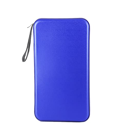UYYE Auto Car CD case,72 Capacity Plastic CD/DVD Protective Case Storage Organizer,Portable CD/VCD/DVD Storage Case,Hard Plastic Protective Holder for CD Storage(Blue)