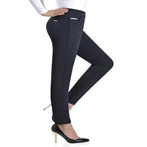NOBRAND L-4XL Pantalones de lápiz de Cintura elástica para Mujer Talla Grande 2018 Otoño Pantalones de Oficina Elegantes para Mujer Pantalones Casuales OL para Mujer