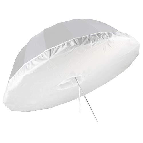 Selens 105CM Difusor de Paraguas de Estudio de Fotografía Profesional Paño de Luz Suave Umbrella Diffuser Soft Light Cloth para 16 Varillas Negro/Plata Paraguas de Iluminación Reflectante Parabólico
