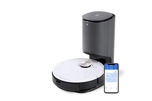 ECOVACS DEEBOT OZMO T8+, Staubsauger-Roboter mit Wischfunktion & automatischer Absaugstation, intelligente Navigation, Google Home, Alexa- & App-Steuerung