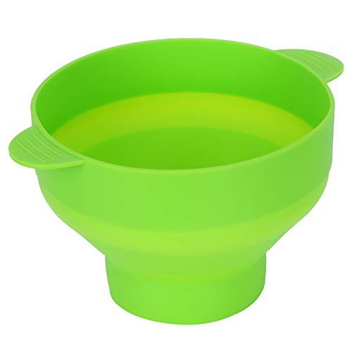 01 02 015 Lebensmittelbehälter, Küchenutensilien, Silikon-Popcorn-Schüssel für Kühlschrank für Backofen für Mikrowelle (mit Griff-grün)
