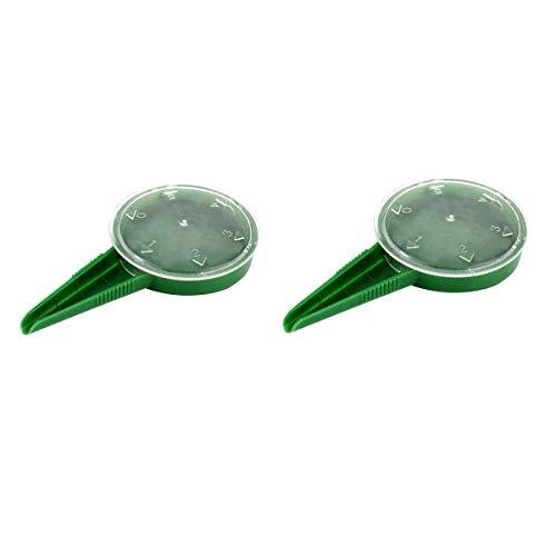Shapl - Mini seminatrice manuale in plastica, 2 pezzi, mini piantagrumi, set di attrezzi da giardino, dispenser, spalmatori, durevole