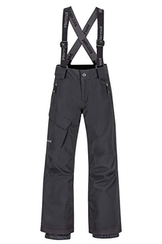 Marmot Boy's Edge Insulated Pant Pantaloni Da Neve Rigidi, Abbigliamento Per Sci E Snowboard, Antivento, Impermeabili, Traspiranti, Bambino, Black, XL
