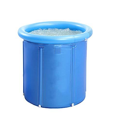 ZSLLO Tragbare Badewanne, japanische Tränkbadewanne, aufblasbare elastische Plastikgröße für Erwachsene faltbar (Farbe : A)