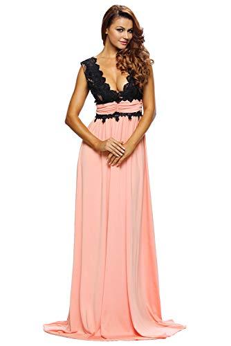 Vestiti Donna - Abiti Lunghi Ragazza - Fashion Moderno da Discoteca Party Sera Ballo O Festa - Eleganti per Sposa Cerimonia O Damigella (L, Rosa)