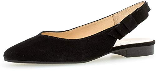 Gabor Damen Pumps, Frauen Sling-Pumps, bequem Komfort Damen Frauen weibliche Lady Ladies feminin elegant Women's Women Woman,schwarz,41 EU / 7.5 UK