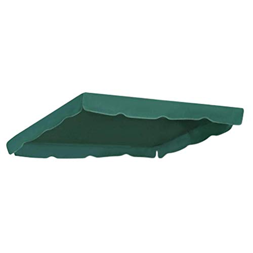 Hearthrousy Sonnendach für Hollywoodschaukel Ersatzdach Gartenschaukel 3-Sitzer Ersatzbezug Sonnendach Schaukel UV-Blockweise wasserdichte oberste für den Außenbereich, 64 x 114 x 15CM