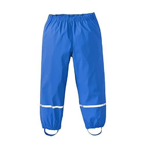 AMIYAN Kinder Regenhose wasserdichte Atmungsaktiv Buddelhose Matschhose für Mädchen Jungen Blau 86/92