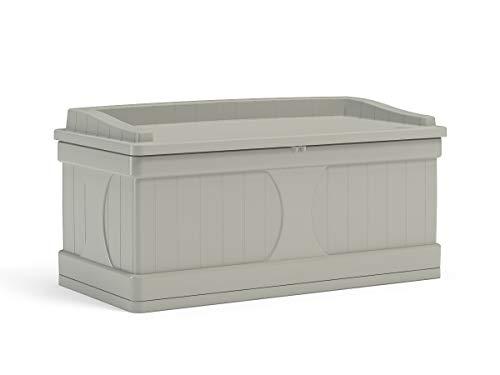 Suncast 99-Gallon Large Deck Box - Lightweight Resin Indoor/Outdoor Storage...
