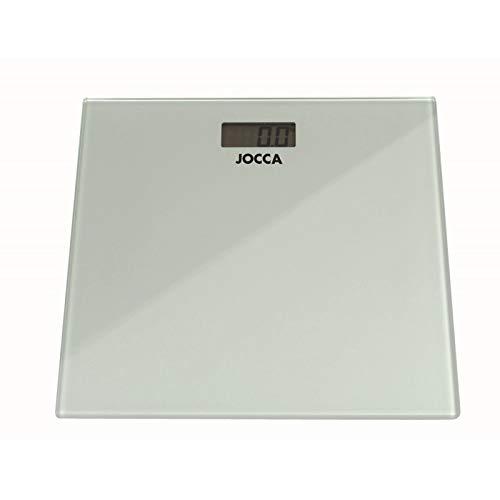 JOCCA - Báscula de baño con pantalla LCD - 28x28 cm