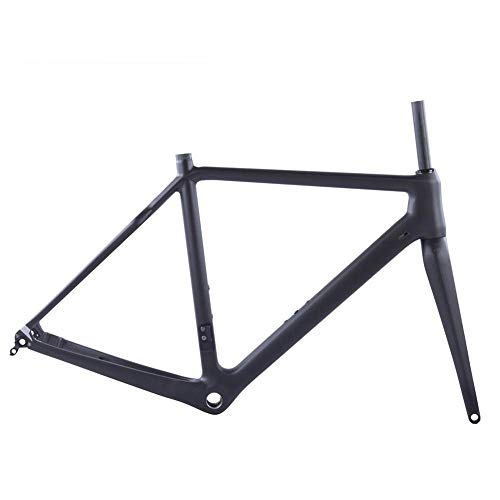 TQ T1000 Carbon-Cyclocross Bike Rahmen 700 * 42C Cyclo Fahrrad-Carbon-Rahmenset Flachmontage Scheibenbremse 31.6mm Sattelstütze,52cm Glossy