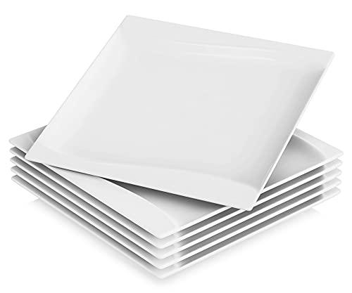MALACASA, Série Carina, 6pcs Assiettes Plates, Assiettes Porcelaine Plates Services de Table Plat pour 6 Personnes