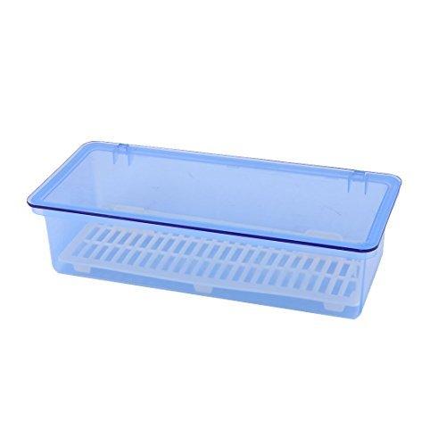 DealMux plástico hogar vajilla de Cocina Placa Plato Cuenco de Almacenamiento Caja de la Caja Azul del envase