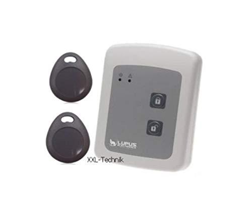 LUPUSEC Tag Reader für die XT Smarthome Alarmanlagen, kompatibel mit der XT1 und XT2 Funk Alarmanlage, batteriebetrieben, inkl. 2 Tags, Zugangskontrolle, Energieklasse A, 12028