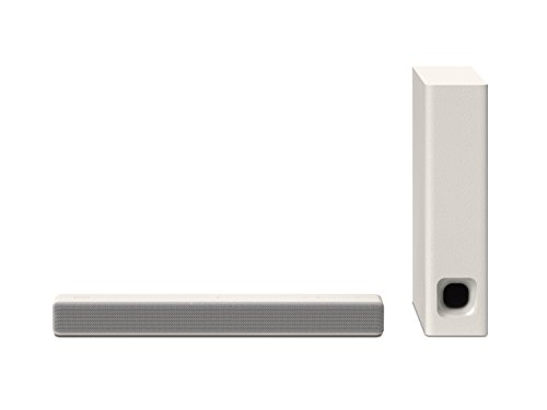 Sony HT-MT301 kompakte So&bar (100W, kabelloser Subwoofer, Bluetooth, NFC, USB) Cremeweiß