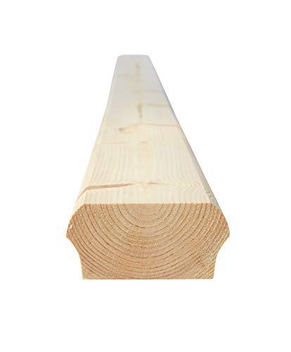 Schwedenhaus-Design - unteres Abschlußprofil für Handlauf & Treppengeländer 85x40x2350mm (154) - Treppe, Balkon, Geländer, nordisches Fichtenholz