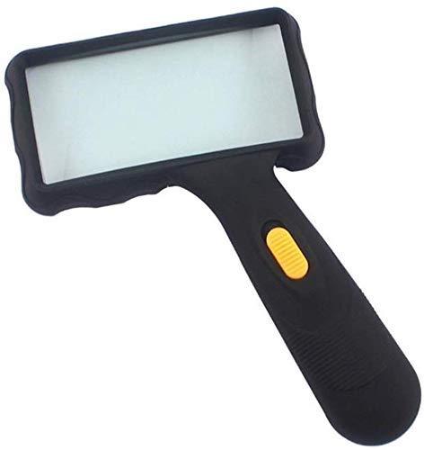 Vergrootglas Led Handheld Vergrootglas Met 2 Lichten Vergrootglas 10×5.5 Inch Lens Voor Het lezen van Boeken Sieraden…