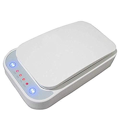 Ying-feirt Smart Phone UV Sterilizer en universele oplader Draagbare mobiele telefoon Sterilizer Cleaner Aromatherapie desinfector met USB opladen Kleur: wit