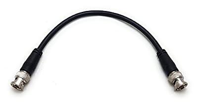 MainCore 25cm Long BNC to BNC / RG59 75ohm CCTV Camera Video Cable Lead (Available in 0.15m,0. 25m, 0.50m, 1m, 1.5m, 2m, 3m, 5m, 10m, 20m, 30m) (0.25m)