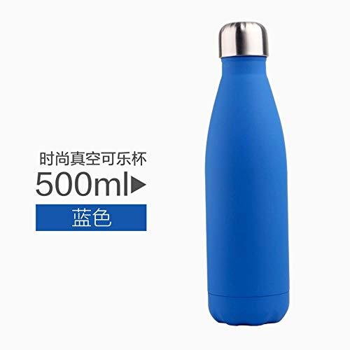 Sincn Taza de Regalo de la Taza de Acero Inoxidable de Supreme Taza transfronteriza Personalizada de Amazon una generación de Botella de Coca -500 ml, Azul Mate