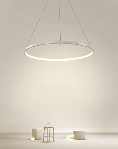 LightInTheBox Lámpara de techo con anillo LED moderno y colgante de acrílico con 1 anillo ovalado máximo 40 W, acabado cromado, lámpara de techo 80 cm