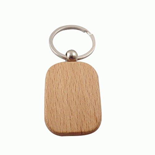 Da.WA personalizzato portachiavi in legno vuoto legno portachiavi portachiavi auto borsa portafoglio Titolare ornamento regalo Ciondolo