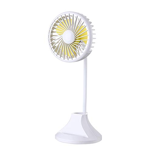 Fooderstoury Fan Mini Handheld USB Fans Usb Rechargeable Desktop Desk Lamp Fan Student Learning Multi-Function Pen Holder Table Lamp Fan For Home Office Bests Gift