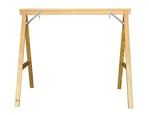 Kingpatiofurniture Scandinavian Style Wood Porch Swing Stand for 4ft Swings Made in USA from Selected Treated Yellow Pine and Zinc Coated Fasteners
