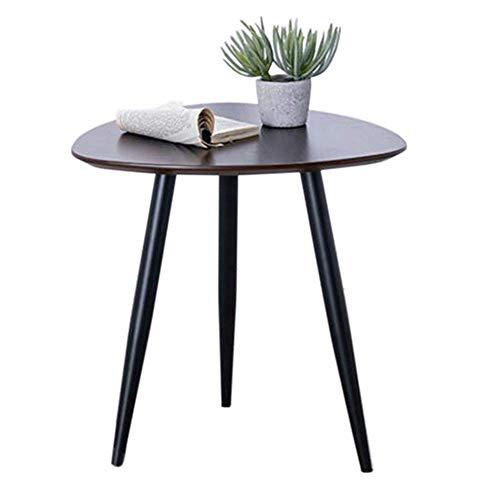 Tavolo da letto, Tavoli Tavolino Triangolo Tavolino Lato ovale Tavolino Laterale Tavolo da caffè con telaio in metallo Tavolo laterale Tavolo laterale in legno, comodino, Stand Plant Tavolino Colore: