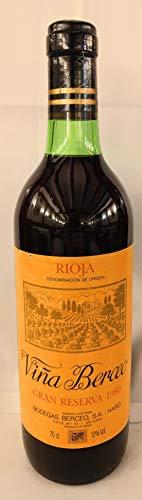 Viña Berceo Gran Reserva 1980. Rioja.Botella de Vino de Colección