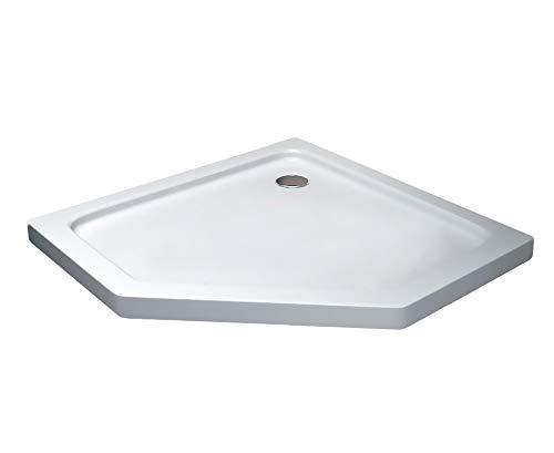 50 mm douchebak van sanitair-acryl 100 x 100 (Fünfeck) cm wit