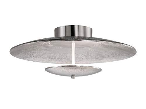 LED Deckenleuchte Honsel Rennes 20113 Lampe Silber Fernbedienung Dimmbar