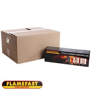 Flamefast Herd & Kamin Fegen Holzklotz (Kasten von 8)
