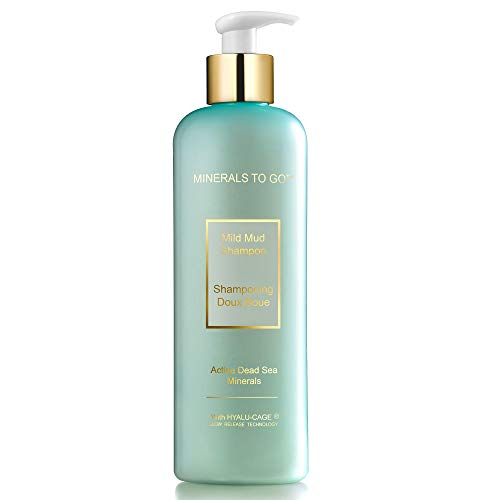 Premier Dead Sea minerals to go mild mud shampoo prevents Dry Hair & Itchy Scalp with mud, hamamelis and lemon extract, daily use shampoo 250ml / 8.5fl oz.